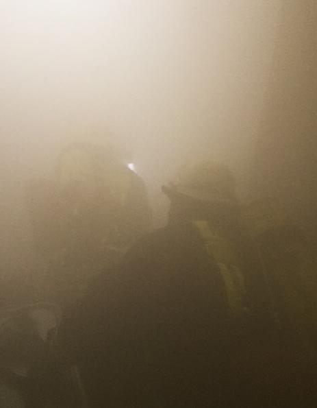 Atemschutztrupp Im Rauch